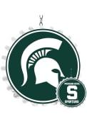 Michigan State Spartans Bottle Cap Dangler Sign