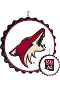Arizona Coyotes Bottle Cap Dangler Sign