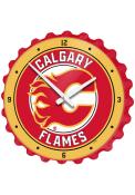 Calgary Flames Bottle Cap Wall Clock