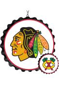 Chicago Blackhawks Bottle Cap Dangler Sign