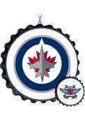 Winnipeg Jets Bottle Cap Dangler Sign