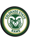 Colorado State Rams Logo Round Slimline Lighted Sign
