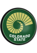 Colorado State Rams Horn Round Slimline Lighted Sign