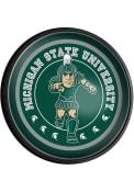 Michigan State Spartans Mascot Round Slimline Lighted Sign