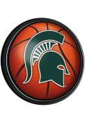 Michigan State Spartans Basketball Round Slimline Lighted Sign