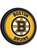 Boston Bruins Round Slimline Lighted Sign