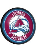 Colorado Avalanche Round Slimline Lighted Sign