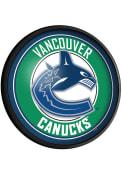 Vancouver Canucks Round Slimline Lighted Sign