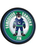 Vancouver Canucks Fin Round Slimline Lighted Sign