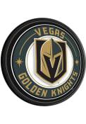 Vegas Golden Knights Round Slimline Lighted Sign