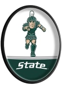Michigan State Spartans Mascot Oval Slimline Lighted Sign