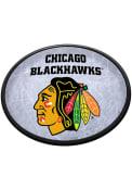 Chicago Blackhawks Ice Rink Oval Slimline Lighted Sign
