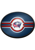 Columbus Blue Jackets Oval Slimline Lighted Sign