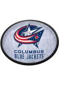 Columbus Blue Jackets Ice Rink Oval Slimline Lighted Sign