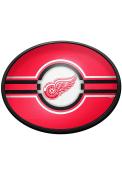 Detroit Red Wings Oval Slimline Lighted Sign