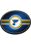 St Louis Blues Oval Slimline Lighted Sign