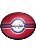 Washington Capitals Oval Slimline Lighted Sign