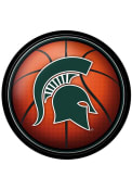Michigan State Spartans Basketball Modern Disc Sign