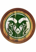Colorado State Rams Weathered Faux Barrel Top Sign