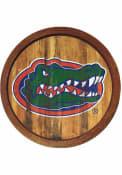 Florida Gators Weathered Faux Barrel Top Sign