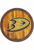 Anaheim Ducks Faux Barrel Top Sign