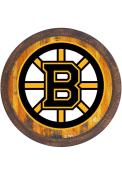 Boston Bruins Faux Barrel Top Sign