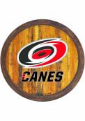 Carolina Hurricanes Faux Barrel Top Sign