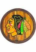 Chicago Blackhawks Faux Barrel Top Sign