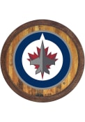 Winnipeg Jets Faux Barrel Top Sign