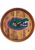 Florida Gators Faux Barrel Top Wall Clock