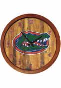 Florida Gators Weathered Faux Barrel Top Wall Clock