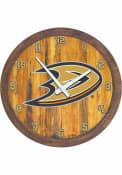 Anaheim Ducks Faux Barrel Top Wall Clock