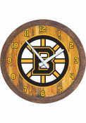 Boston Bruins Faux Barrel Top Wall Clock