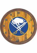 Buffalo Sabres Faux Barrel Top Wall Clock