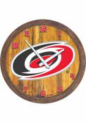 Carolina Hurricanes Faux Barrel Top Wall Clock