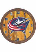 Columbus Blue Jackets Faux Barrel Top Wall Clock