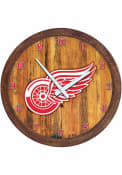 Detroit Red Wings Faux Barrel Top Wall Clock