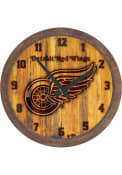 Detroit Red Wings Branded Faux Barrel Top Wall Clock