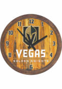 Vegas Golden Knights Faux Barrel Top Wall Clock
