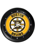 Boston Bruins Ribbed Frame Wall Clock