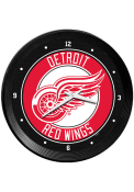 Detroit Red Wings Ribbed Frame Wall Clock
