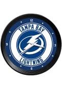 Tampa Bay Lightning Ribbed Frame Wall Clock