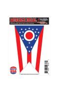 Ohio Ohio Flag 5x7 Auto Decal - Blue