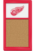 Detroit Red Wings Cork Noteboard Sign