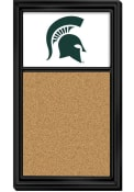 Michigan State Spartans Cork Noteboard Sign