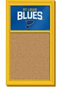 St Louis Blues Cork Noteboard Sign