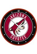 Arizona Coyotes Modern Disc Wall Clock