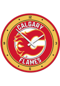 Calgary Flames Modern Disc Wall Clock