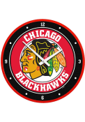 Chicago Blackhawks Modern Disc Wall Clock