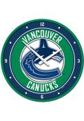 Vancouver Canucks Modern Disc Wall Clock